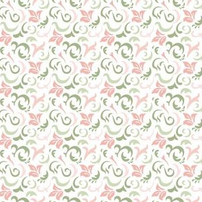 Timeless - Scroll Print, Pink