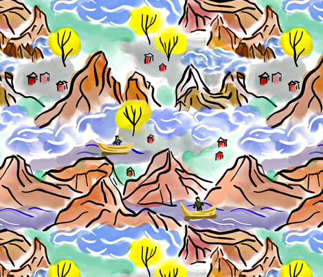 Landscape fabric by susan_polston on Spoonflower - custom fabric