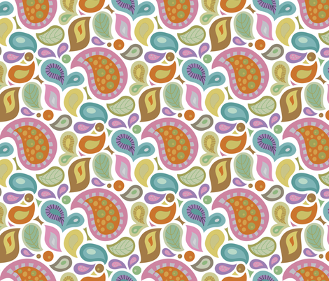 Cooking Paisley - White fabric by denise_ortakales on Spoonflower - custom fabric