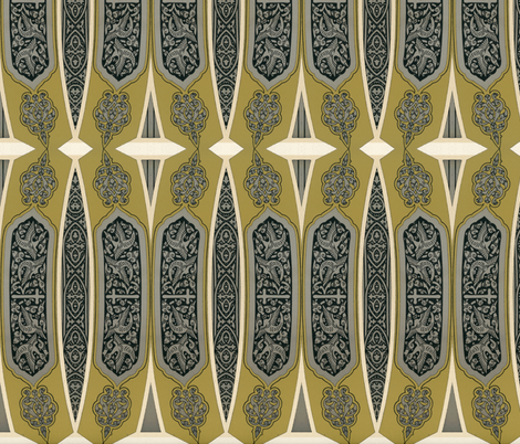 arabesque 29 fabric by hypersphere on Spoonflower - custom fabric