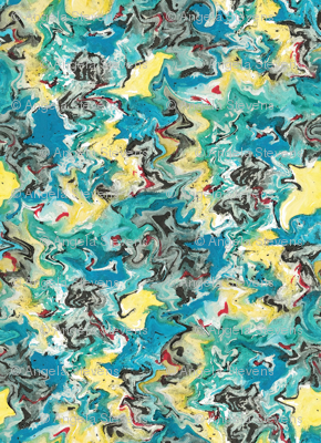 Watercolor Resist Abstract
