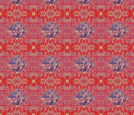 blue diamond on red fabric by twigsandblossoms on Spoonflower - custom fabric