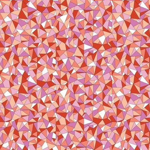 Biba* (Reds & Pinks) || geometric gem jewel facet sparkle triangle diamond