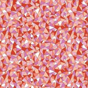 Biba* (Reds & Pinks) || geometric gem jewel facet sparkle triangle diamond