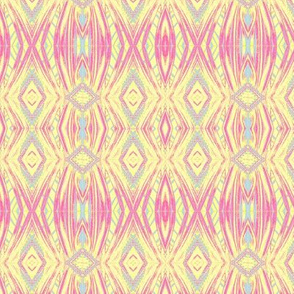 Pink and yellow ikat