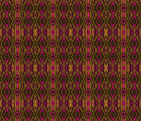 magenta and gold ikat fabric by twigsandblossoms on Spoonflower - custom fabric