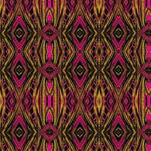 magenta and gold ikat