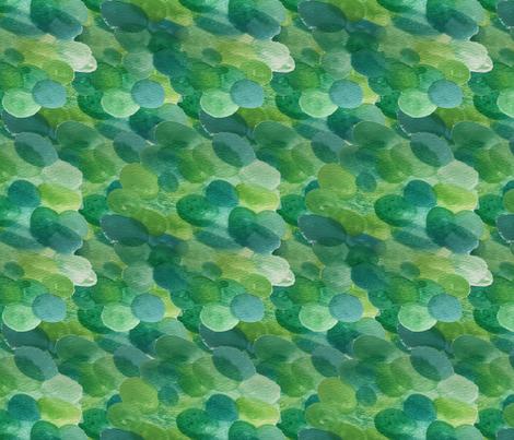 Green Bloops fabric by jumbojibbles on Spoonflower - custom fabric