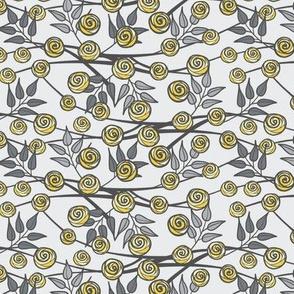Gray and Yellow Climbing Roses