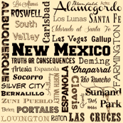 New Mexico cities, yellow