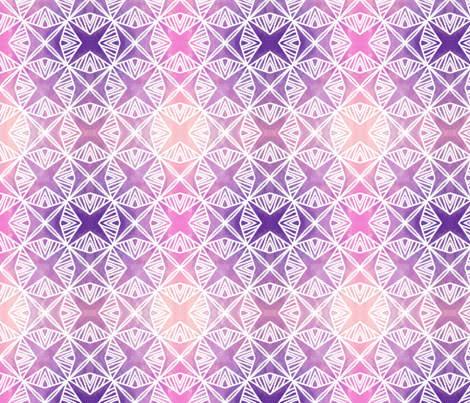 watercolor lattice fabric by catbaconcreative on Spoonflower - custom fabric