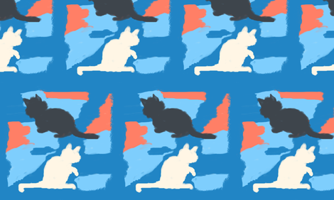 Abstract-Cats fabric by bugs4 on Spoonflower - custom fabric