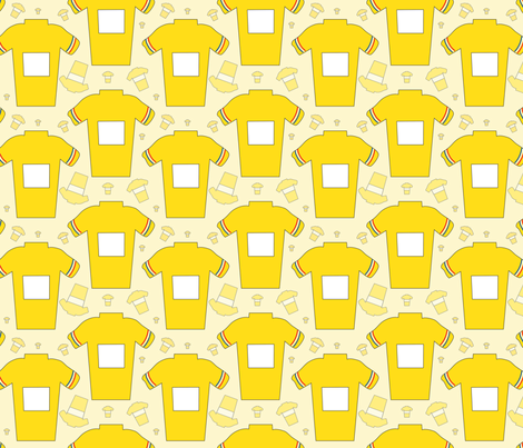 TDF Yellow Cycling Jersey Maillot Jaune fabric by sanfranciscobaydesign on Spoonflower - custom fabric