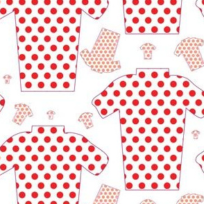 Red Polka Dot KOM Cycling Jerseys King Of The Mountain TDF
