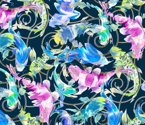 Catch a Koi fabric by gingerlique on Spoonflower - custom fabric