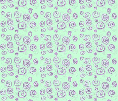 Swirl on Green abstract fabric by katawampus on Spoonflower - custom fabric