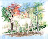 Watercolor_unicorn_in_woods_for_pillow_rev_thumb