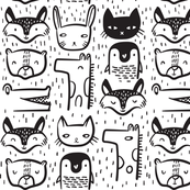 Animal Faces - Large
