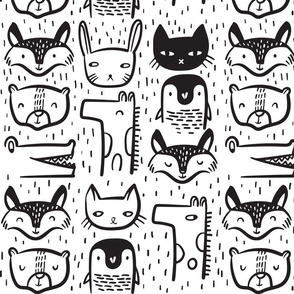 Animal Faces - Medium
