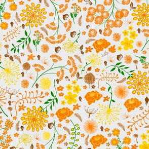 Swedish orange folk flowers