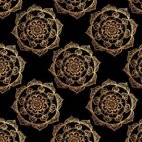 Gold Mandalas on Black