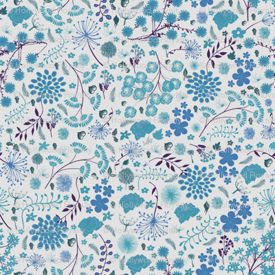 Swedish blue wildflowers