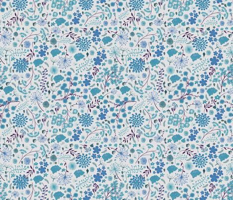 Swedish blue wildflowers fabric by hollywood_royalty on Spoonflower - custom fabric