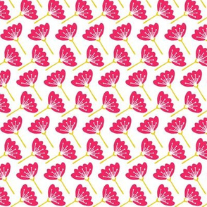 Modern Flowers in Pink