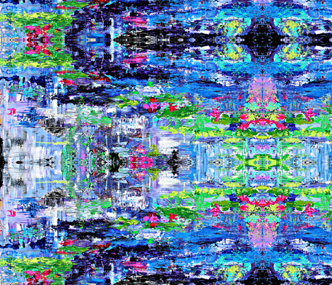 Abstract Pond fabric by carolscanvas on Spoonflower - custom fabric