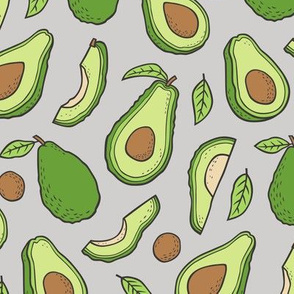 Avocado  Fabric on Grey