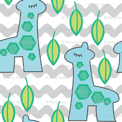giraffe-collection---large- blue giraffes