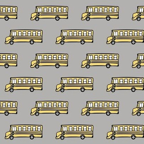 school bus on grey