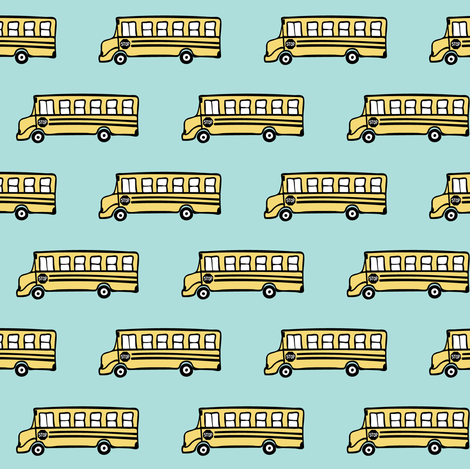 school bus fabric fabric by littlearrowdesign on Spoonflower - custom fabric