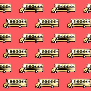 school bus on red