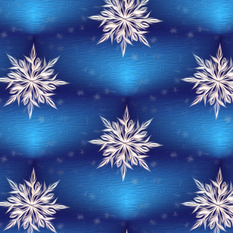 snow star - painted  fabric by stofftoy on Spoonflower - custom fabric