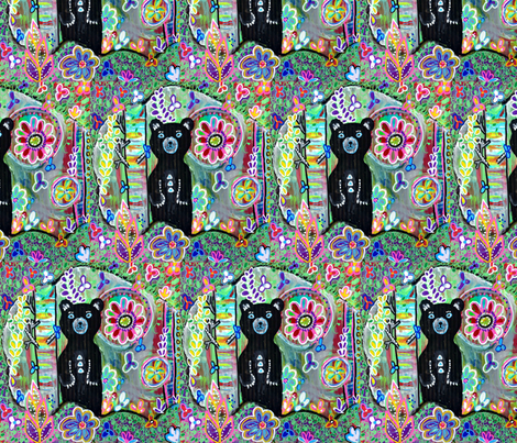 Black Bear Baby fabric by carolscanvas on Spoonflower - custom fabric