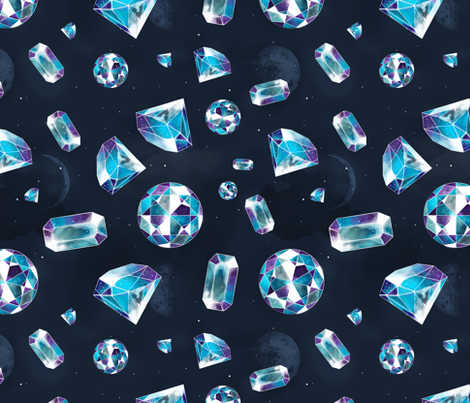 Shine bright like a diamond fabric by ewa_brzozowska on Spoonflower - custom fabric