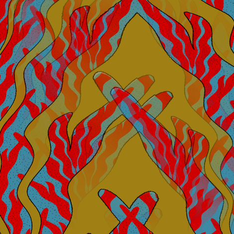 Coral Underworld fabric by david_kent_collections on Spoonflower - custom fabric