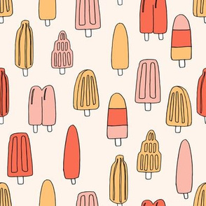 popsicle fabric // ice cream summer popsicles fabric food tropical summer design by andrea lauren - oranges