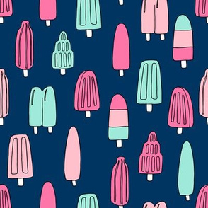 popsicle fabric // ice cream summer popsicles fabric food tropical summer design by andrea lauren - mint and pink