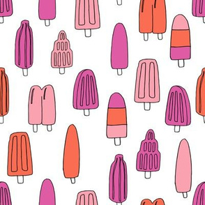 popsicle fabric // ice cream summer popsicles fabric food tropical summer design by andrea lauren - pink orange