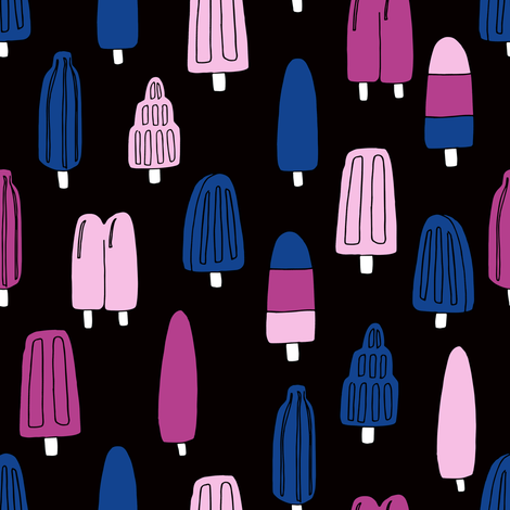 popsicle fabric // ice cream summer popsicles fabric food tropical summer design by andrea lauren - purple and blue fabric by andrea_lauren on Spoonflower - custom fabric