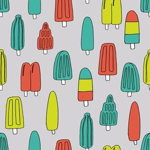 popsicle fabric // ice cream summer popsicles fabric food tropical summer design by andrea lauren - lime and orange