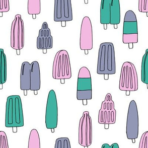 popsicle fabric // ice cream summer popsicles fabric food tropical summer design by andrea lauren - purple and green