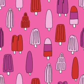 popsicle fabric // ice cream summer popsicles fabric food tropical summer design by andrea lauren - pink and red