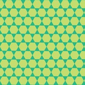 giraffe-collection---green hexagons