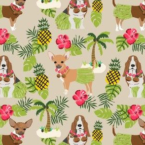 Custom Chihuahua and Basset Hound fabric