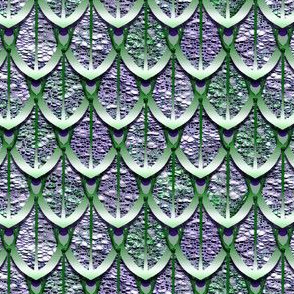 Green and Purple Dragon Scales by Amborela