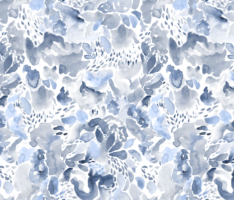 Abstract - blue period fabric by vo_aka_virginiao on Spoonflower - custom fabric