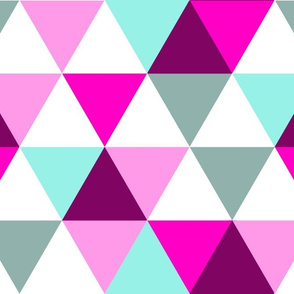 Pink and Teal Triangles